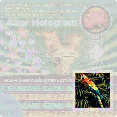 هولوگرام با رنگ واقعی