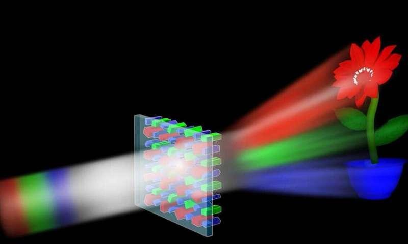 نانو بلاکهای سیلیکونی هولوگرامهای رنگی